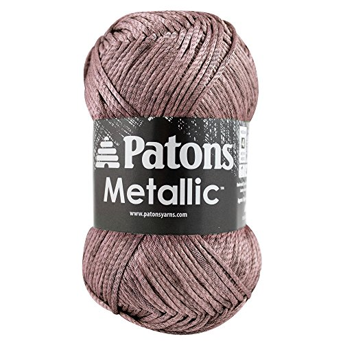 Patons  Metallic Yarn - (4) Medium Gauge  - 3 oz -  Burnished Rose -   For Crochet, Knitting & (Metallic Crochet)
