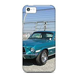 Excellent Iphone 5c Case Tpu Cover Back Skin Protector 1968 Gt/cs Mustang