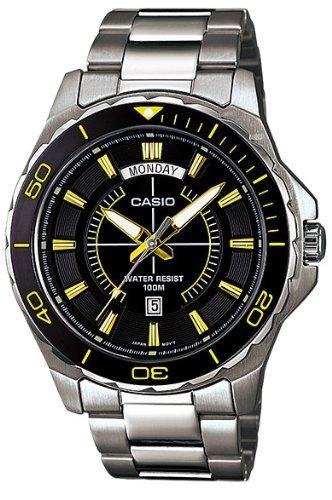 Casio # mtd1076d-1 a9 V estándar - Reloj deportivo de acero ...