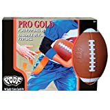 POOF Pro Gold Flag Football Set with 16-Flags and 9.5-Inch Foam Football, Brown