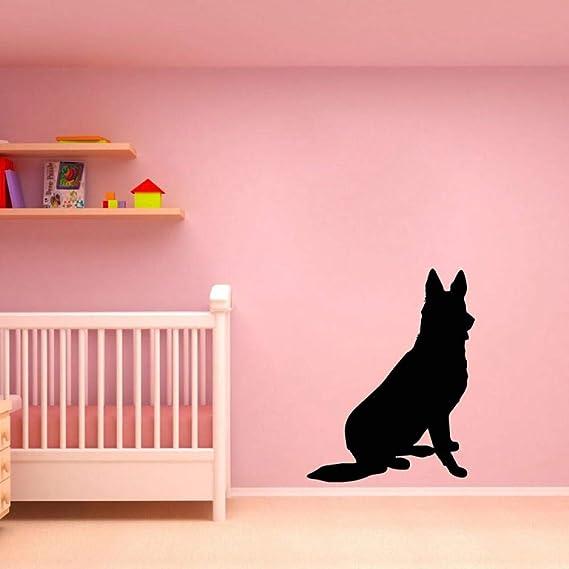 59 * 75 CM Perro de pastor alemán Etiqueta de la pared Animales ...