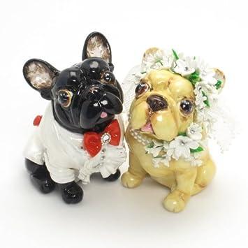 French Bulldog Wedding Cake Topper P0011 Dog Lover Figurine Handmade Decor Centerpiece