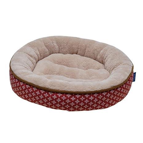 Wuwenw Redondo para Mascotas Cama Perro Pequeño Perrito Suave Perrito Chihuahua Kennel Gato Estera Almohadilla Casa