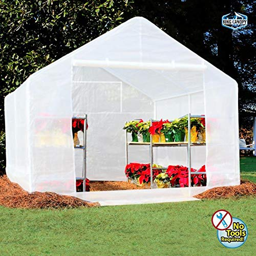 King Canopy GH1010 10-Feet by 10-Feet Fully Enclosed Greenhouse, ()