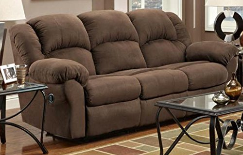 Chelsea Home Furniture Ambrose Reclining Sofa, Aruba Chocolate