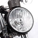 7 inch round headlight housings - KiWAV Sirius 7 inch round motorcycle headlight headlamp with black housing SAE compliant Halogen HB2 bulb 12V 55W 60W