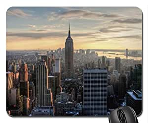 aerial view of the empire state building Mouse Pad, Mousepad (Skyscrapers Mouse Pad) by runtopwell