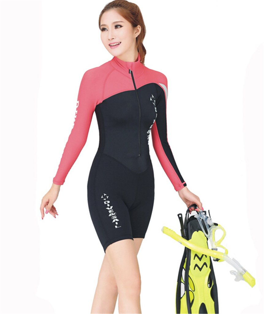 Stylish long sleeves one piece swimsuit for men & women LUCKY BUTTERFLY