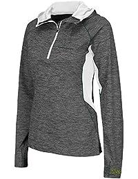 Womens NCAA Oregon Ducks Quarter Zip Hooded Wind Shirt (Heather Charcoal)