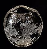 Hand Engraved Cherry Blossom Vase, Cherry Blossom, Hummingbirds, Engraved Glass, Floral vase, Home Decor, Floral, Crystal vase