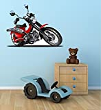 "36"" Custom Motorcycle #4 street cruiser sport bike Wall Graphic Sticker Decal Kids Game Room Man Cave Garage Art Decor NEW"