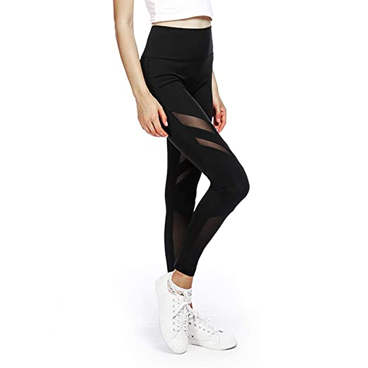 43ebdbc04322d Custom Women mesh Yoga Fabric high Waisted Workout Tight Leggings Fitness  Gym Sport reathable,Quick