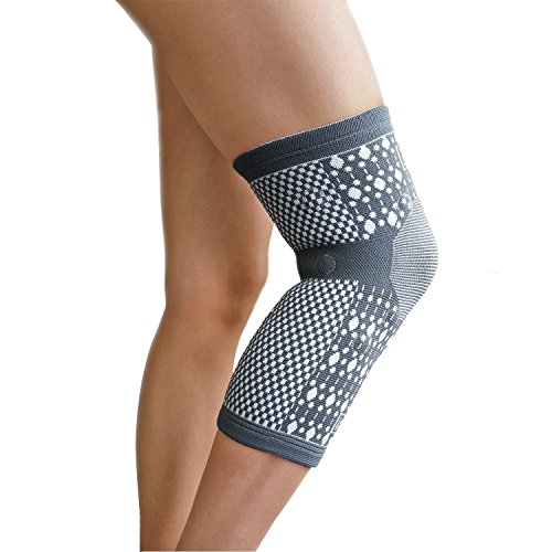 Magnetic Knee Brace - Knee Support Sleeve, Premium For Men and Women, Tourmaline Infused High Quality Compression Magnetic Therapy for Pain, Injury, Arthritis, Single Sleeve, Vigor Force