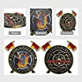Firefighter Challenge Coins Thin Red Line Maltese Cross Fire Rescue Fireman Coin from Indeep