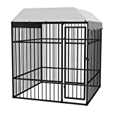 """Daonanba Dog Kennel Pet Kennel Outdoor Dog Crate Heavy-Duty Stable Durable Comfortable with Roof 76.8""""x76.8""""x90.6"""" Daonanba"""