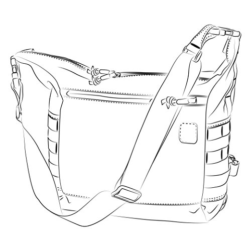 BUSHCRAFT SATCHEL Bag Tasche - Cordura® - Black Schwarz