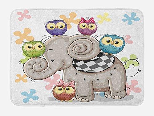 elephant decor bath tub mats - 6