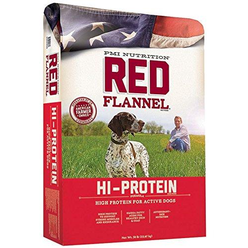(PMI Nutrition Red Flannel Hi-Protein Dog Food, 50 lb)