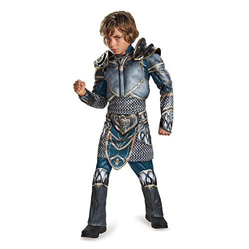 Lothar Classic Muscle Warcraft Legendary Costume, Large/10-12 - Boy Knight Costumes