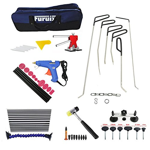 Furuix 53pcs Paintless Dent Repair Kit PDR Rods C Series Dent Puller Kit Dent Lifter Paintless Dent Removal PDR Kit Door Ding Repair by Furuix (Image #1)