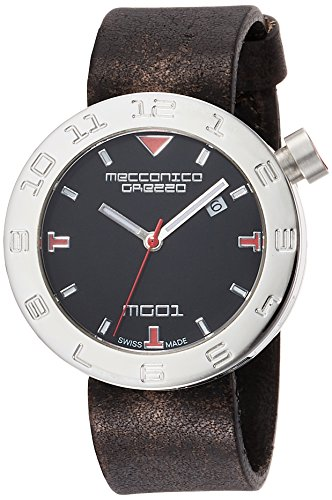 MECCANICA GREZZA (MECDH) Casual Unisex-Adult Watch, Adjustable, Clear