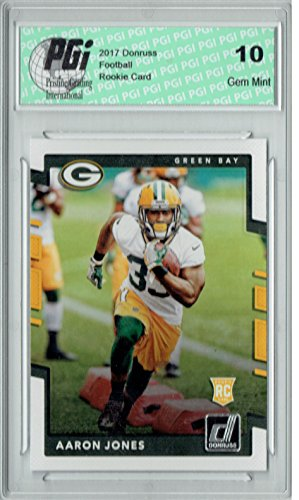 Aaron Jones 2017 Donruss #385 Rookie Card PGI 10