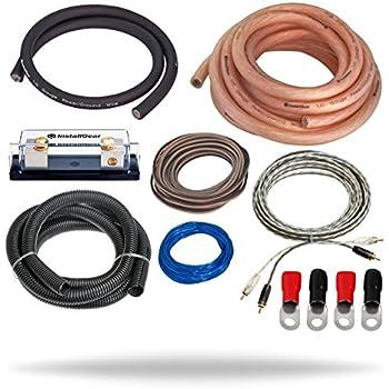 Amazon.com: InstallGear 1/0 Gauge Amp Kit Ga Amplifier Installation ...