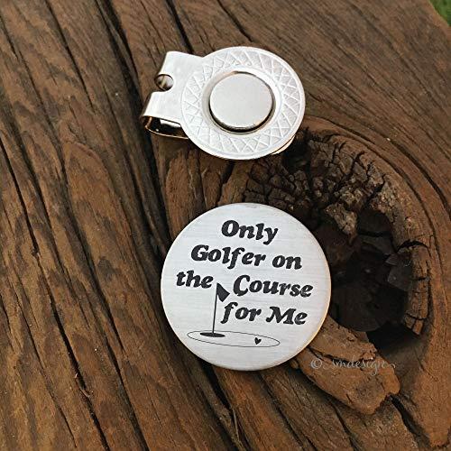 Only Golfer For Me Golf Ball Marker - Golf Disc Gift For Husband Birthday Gift Idea for Boyfriend Golf Ball Marker for Golfer Fiance Gift Idea Love Present