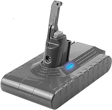Sankett Batería para Dyson V8 Absolute Animal Exclusivo Aspirador de mano Cargador inalámbrico Batería de repuesto 21.6V 4500mAh 97.2W: Amazon.es: Electrónica