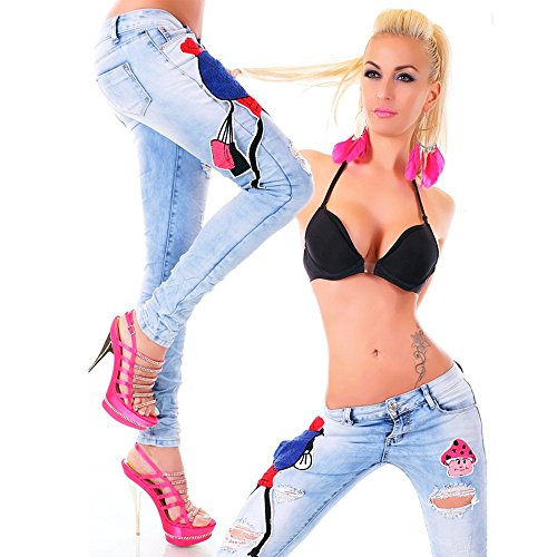 Davani bleu Jeans clair Jeans Femme Davani dUFUn4afq