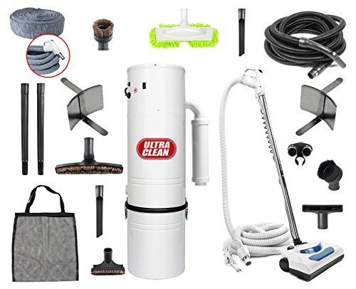 Top Quality Canadian Made Central Vacuum Ultra Clean Unit 7,500 sq. ft. 30′ Electric Hose / Powerhead Attachemnets, Garage Kit & Accessories