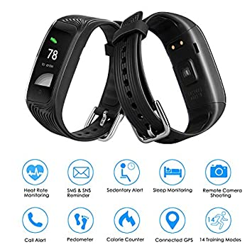 POSIVEEK Fitness Tracker HR,S4 Fitness Watch Activity Tracker Heart Rate Monitor, Sleep Monitor,Step Counter,IP67 Waterproof,Calorie Counter,Pedometer Watch for Android and iOS