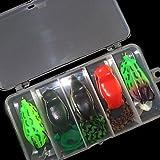 BuW Soft Baits with VMC Hook Frog Sets(5 Pcs) fishing wholesale fishing supplies fishing tackle