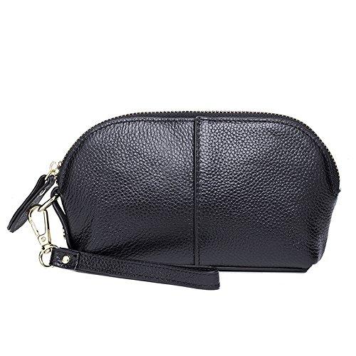 SEALINF Women's Vintage Genuine Leather Handbag Cowhide Clutch Bag Shell Bag (Oversized Vintage Clutch)