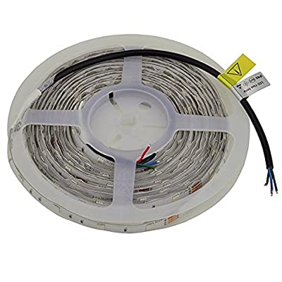 LEDwholesalers 24-Volt UL Water-Resistant 16-ft Color-Changing Flexible LED Ribbon Strip with 150xSMD5050, 20255RGB