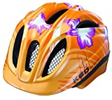 KED Kinder Fahrradhelm Meggy, orange flower, S/M, 16413012SM