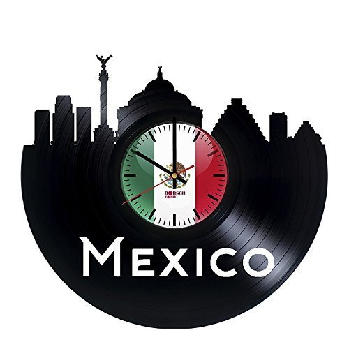 mexico-flag-handmade-vinyl-record-wall-clock-get-unique-living-room-wall-decor-gift-ideas-for-men-an