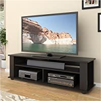 Pemberly Row 58 TV Component Stand in Ravenwood Black
