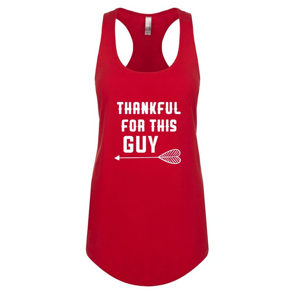 Mad Over Shirts Thankful for This Guy Unisex Premium Racerback Tank top