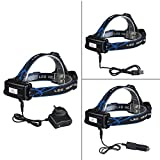 GRDE® 2200 Lumens Waterproof Head Torch, Powerful LED Headlight, Rechargeable Headlamp for Cycling Running Hiking Camping Hunting Fishing Bild 4