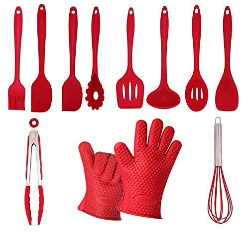 - XYBW Silicone Kitchen Cooking Utensils, 11 Pieces Heat Resistant Non-Stick Baking Tools Set