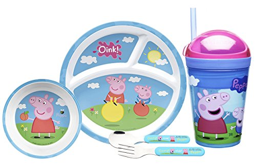 Zak! Designs Todderific Mealtime Set Includes Sectioned Plate,