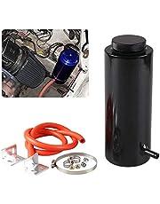 Ryanstar 800ml Racing Radiator Coolant Overflow Billet Aluminum Oil Catch Tank Round Oil Catch Can Reservoir