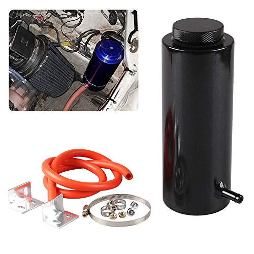 Coolant Tank - RYANSTAR Radiator Coolant Tank 800ml Universal Coolant Expansion Tank Cooling Catch Bottle Overflow Reservoir Aluminum Billet Black