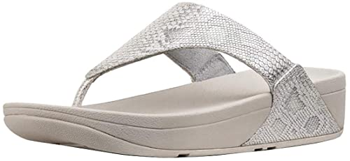 321912e11fd9 Fitflop Women s Lulu Python Print Toe Thong Sandals Urban White 10 ...
