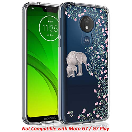 Case for Moto G7 Power/Moto G7 Supra, SYONER [Scratch Resistant] Ultra Slim Clear Phone Case Cover for Motorola Moto G7 Power (6.2, 2019) [Elephant]