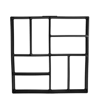Crewell Garden DIY - Molde de Cemento para Manualidades, plástico, Modelo de pavimento de hormigón, D: Amazon.es: Hogar