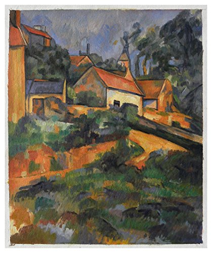 (Turning Road at Montgeroult - Paul Cézanne high quality hand-painted oil painting reproduction,hillside scene,French village of Montgeroult Landscape art)