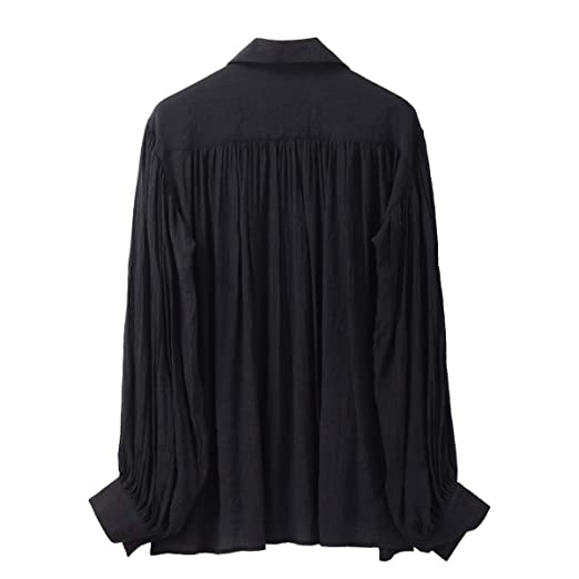 GRACEART Hombres Pirata Camisa Disfraz (Medium, Black): Amazon.es ...