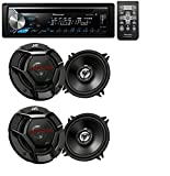 Pioneer DEH-X3900BT Car Audio CD MP3 Bluetooth Stereo Radio Player, Front Aux Input With(4) JVC 6.5'' 600 Watt 2-Way Car Audio Speakers
